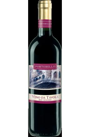 Portobello Vino da Tavola red semi-dry