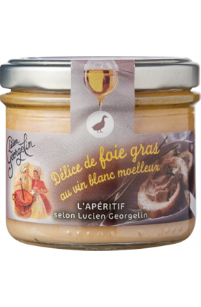 Foie gras z słodkim białym winem Lucien Georgelin 100g