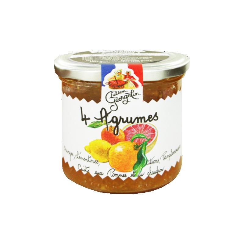 Konfitura cytrusowa z pomarańczą, klementynkami, cytryną i grejpfrutem Lucien Georgelin 150g